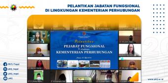23 Pegawai PKTJ Dilantik Sebagai Jabatan Fungsional Kemenhub