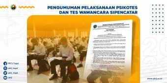 Pengumuman Pelaksanaan Psikotes dan Tes Wawancara Sipencatar Jalur Reguler Polbit dan Non Polbit TA 2021/2022