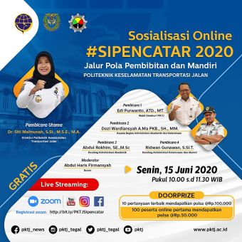Sosilisasi Online SIPENCATAR 2020 (PKTJ TEGAL)