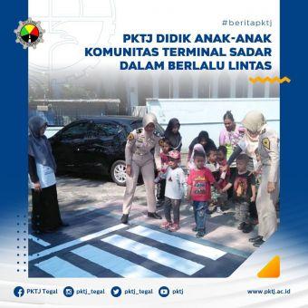 PKTJ Didik Anak-Anak Komunitas Terminal Sadar dalam Berlalu Lintas