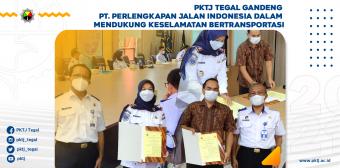 PKTJ Tegal Gandeng PT. Perlengkapan Jalan Indonesia dalam Mendukung Keselamatan Bertransportasi