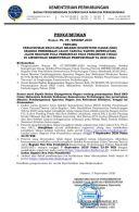 PENGUMUMAN KELULUSAN SELEKSI KOMPETENSI DASAR (SKD) SELEKSI PENERIMAAN CALON TARUNA/TARUNI (SIPENCATAR) JALUR REGULER POLA PEMBIBITAN PADA PERGURUAN TINGGI DI LINGKUNGAN KEMENTERIAN PERHUBUNGAN TA 2020/2021