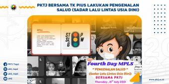 PKTJ Bersama TK Pius Lakukan Pengenalan SALUD (Sadar Lalu Lintas Usia Dini)