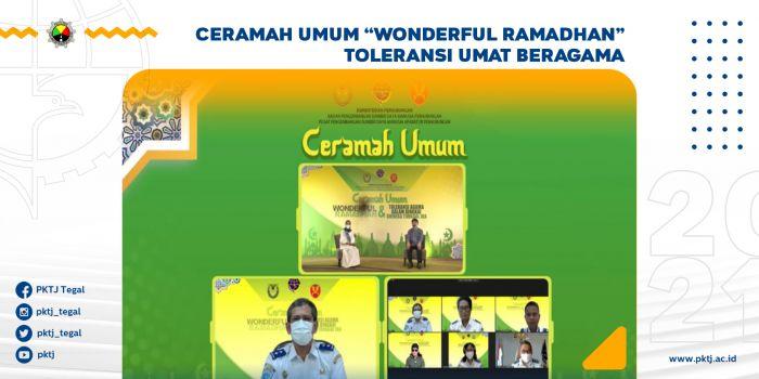 Ceramah Umum Wonderful Ramadhan Toleransi Umat Beragama