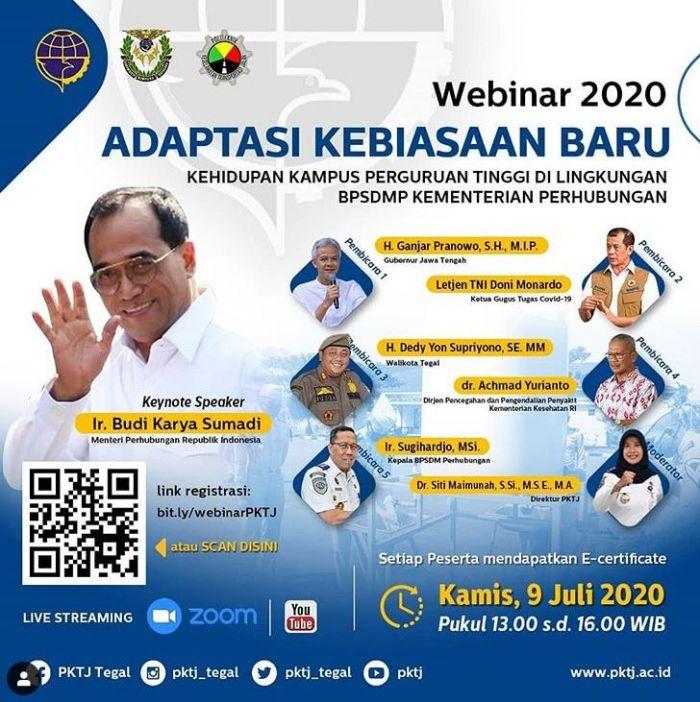 Materi Webinar 2020 PKTJ: Adaptasi Kebiasaan Baru Kehidupan Kampus Perguruan Tinggi Di lingkungan BPSDMP Kementerian Perhubungan