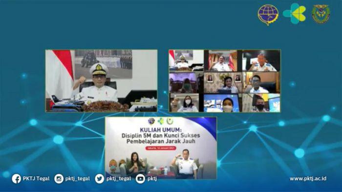 Kuliah Umum Menteri Perhubungan dan Menteri Kesehatan : Disiplin 5M dan Kunci Sukses Pembelajaran Jarak Jauh