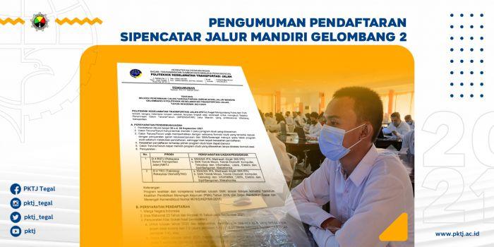 PENGUMUMAN PENDAFTARAN SIPENCATAR JALUR MANDIRI GELOMBANG 2