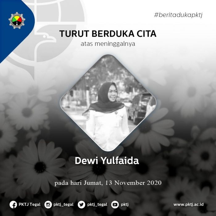Segenap civitas akademika Politeknik Keselamatan Transportasi Jalan turut berduka cita atas meninggalnya Pegawai PKTJ Ibu Dewi Yulfaida