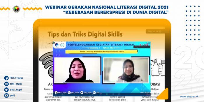 Webinar Gerakan Nasional Literasi Digital 2021 Kebebasan Berekspresi di Dunia Digital