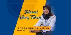 Selamat Ulang Tahun Ibu Direktur PKTJ Tegal Ibu Dr. SITI MAIMUNAH, S.Si., M.S.E., M.A